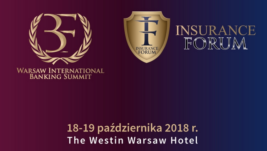 Baner XVI Warsaw International Banking Summit oraz XII Insurance Forum