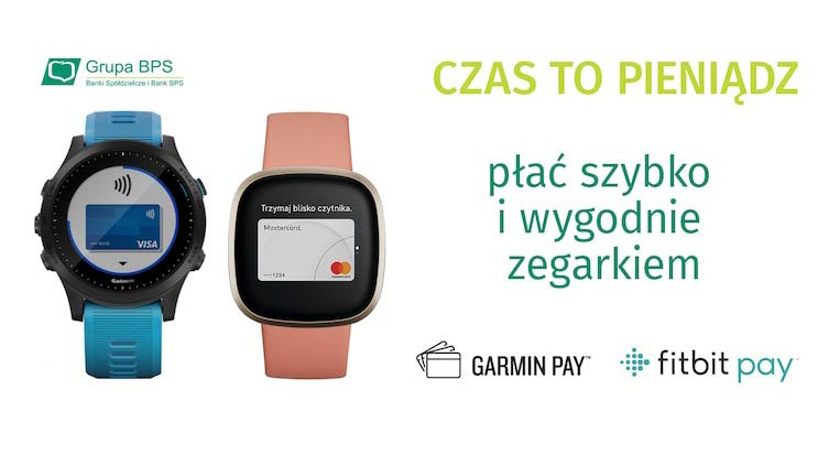 Garmin Pay i Fitbit Pay w BPS